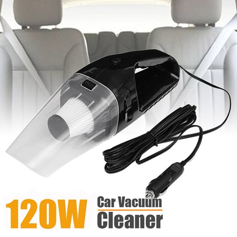 DC12V 120W Super Suction Handheld Cyclonic Car Vehicle Vacuum Cleaner Blue Wet Dry Duster