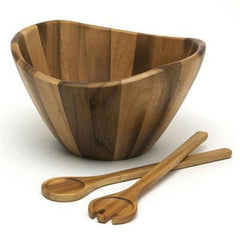 Acacia Salad Set with Servers