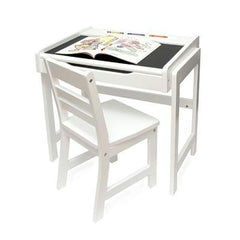 Childs Desk And Chair Set Wht