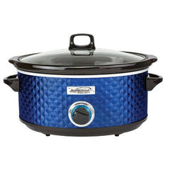Bs Slow Cooker Quilted 7qt Blu