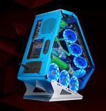 Desktop computer PC with intel core i7 4770k 3.5GHz Aluminum water-cooling case and 23.6/27 inch monitor