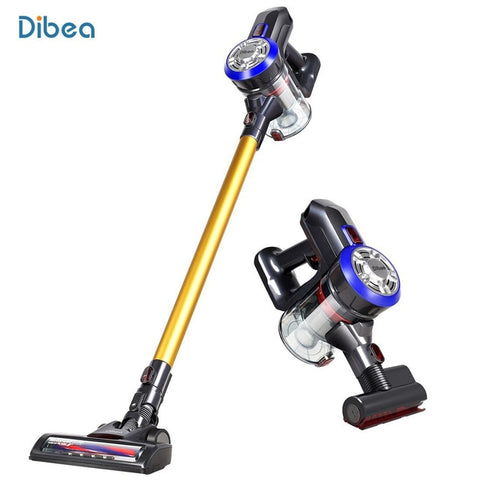 Dibea D18 Cordless Handheld Vacuum Cleaner Cyclone Filter Strong Suction Dust Collector Household Aspirator With Motorized Brush