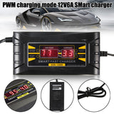 Digital LCD 12V 6A Electronic Smart PWM Lead Acid Battery Charger Cable Fast Charger For Car Motorcycle