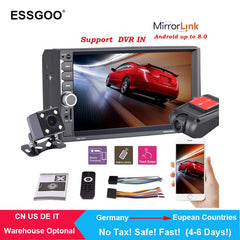 "Essgoo 2 Din Car Radio 7"" Hd Autoradio Multimedia Player 2din Touch Screen Auto Audio Car Stereo Mp5 Bluetooth Usb Tf Fm Camera"