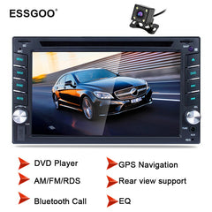 "Essgoo 6.2"" 2 Din Car Radio Bluetooth Dvd Player Gps Navigation Fm Rds Rear View Camera Optional Car Stereo Autoradio Navigators"