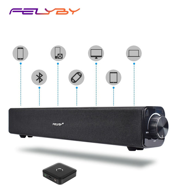 FELYBY B03 Wireless Bluetooth Speaker Soundbar Home Theater Computer multimedia Speakers Stereo Audio Column Sopport Aux