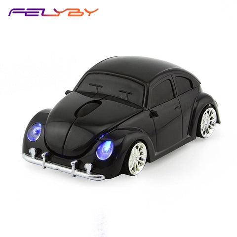 FELYBY BKL0308 Wireless Mouse Cool 3D Sport Car Shaped Ergonomic Optical Cordless Mice 1600DPI for PC Laptop Computer Notebook