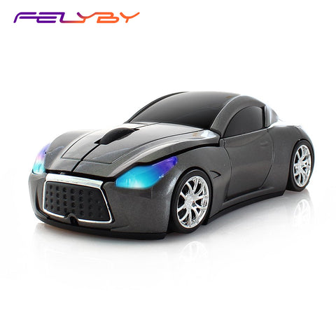 FELYBY BKL555 3 kinds of Cool Sport Car Shape 2.4GHz Wireless Mouse 1600DPI 3 Buttons Optical Mice for PC Laptop Computer