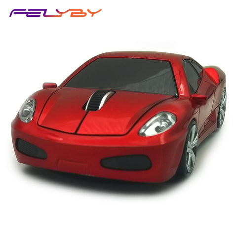 FELYBY Wireless Car Mouse 1600DPI 2.4GHz Optical Gaming Mouse Cool Sport Car Wireless Mouse