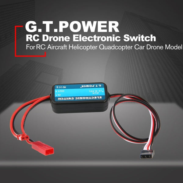 G.T.POWER 0-40V Remote Controller Electronic Switch RC Parts for RC Aircraft Helicopter Quadcopter Car Drone Model