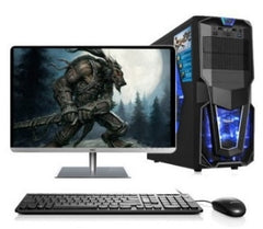 Gaming desktop Intel i3/i5/i7 /2GB/4GB/8gb ram 120Gb/1tb HDD with 18.5 22 24 inch monitor PC computer desktops