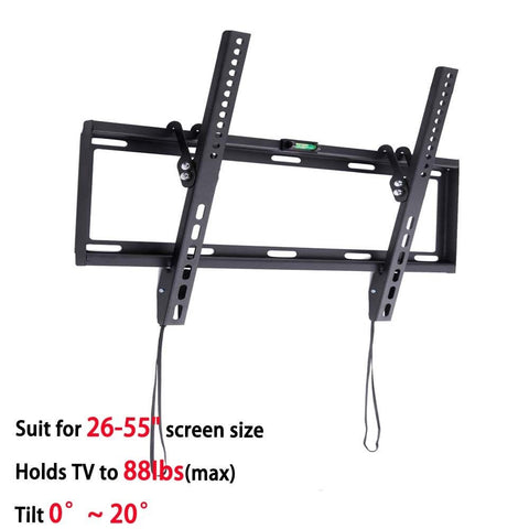 "General Ultra Slim Plasma Tilted TV Mount Monitor LCD LED HD TV Stand Wall Mount Bracket Fit for 26""-55"" Max Support 40KG Weight"