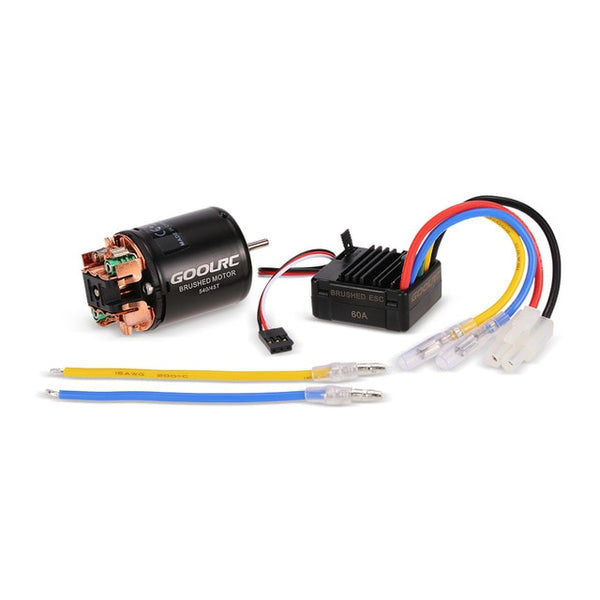 GoolRC RC Car Model Part 540 45T Brushed Motor + 60A Brushed ESC Electronic Combo Hybrid for 1/10 RC Cars Consumer Electronics