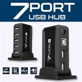 High Speed Multi USB Hub Splitter 7 Port USB 2.0 Hub Desk External AC Power Adapter Cable EU/US Plug For Raspberry Pi PC Laptop