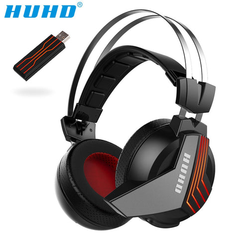 High-tech Wireless 7.1 Surround Sound USB Stereo Gaming Headset Over Ear Noise Isolating LED Monitor Headphones for PS4 PC Gamer