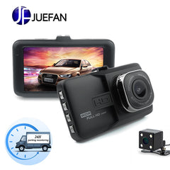 JUEFAN car dvr camera 1080p dash cam High-definition car video recorder dvr car mirror camera Dual camera lens dashcam
