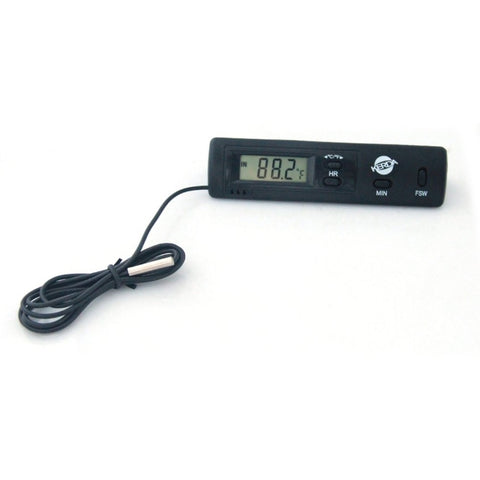 KD-1 Vehicle Electronic Dual Probe Fixed Dual Temperature Inside And Outside Temperature Thermometer 24/12h Clock Calendar