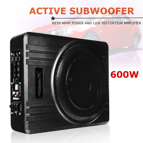"KROAK Universal 10"" 600W Slim Under-Seat Powered Car/Truck Subwoofer Amplifier Amp Super Bass"
