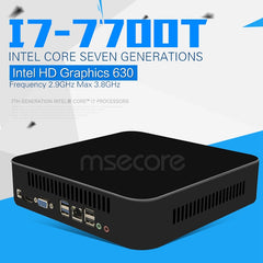 MESCORE core i7 7700T DDR4 gaming Mini PC Desktop Computer linux Windows 10 Nettop i7 intel barebone HTPC Game pc HD630 4K WiFi