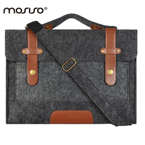 MOSISO 13 13.3 15 15.6 inch Felt Laptop Bag Case for Macbook Men Women Handbag Briefcase Bags Notebook Messenger Shoulder Bag