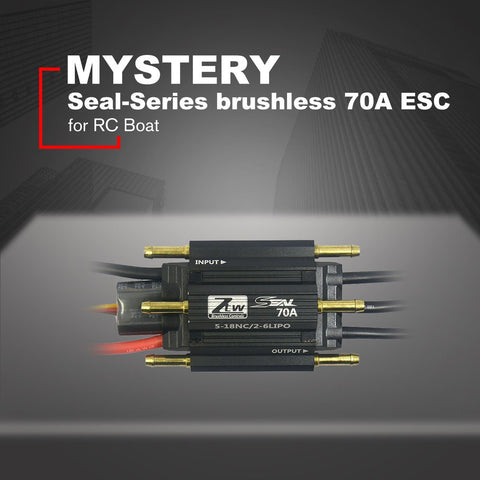 MYSTERY 70A 2-6S Lipo 5-18 NC 5.5V/3A Seal-Series Brushless ESC Electronic Speed Controller for RC Boat