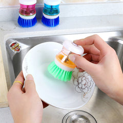 Magic Stainless Steel Cleaning Brushes Cleaning Stick Pot Brush Kitchen Clean Tool Holde Dish Washer Kitchen Accessories #L