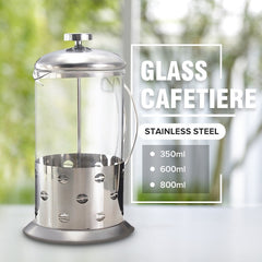 Manual Coffee Espresso Maker Pot Stainless Steel Glass Teapot Cafetiere French Coffee Tea Percolator Filter Press Plunger