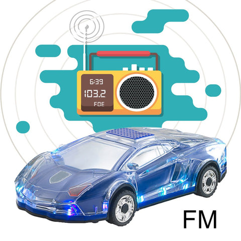 Mini Car-shaped Speaker Colorful LED Light Flash Car Bluetooth Wireless Speakers TF Card FM Radio Handfree Subwoofer ML63
