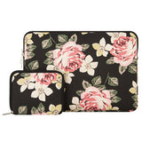 Mosiso 13.3 inch Roses Women laptop bag for Macbook Air 13 Mac book Pro Acer Asus Notebook etc also for iPad Pro 12.9