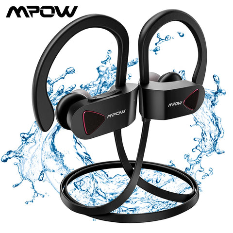 Mpow D8 Bluetooth 4.1 Wireless Earphone IPX7 Structural Waterproof Sport Headphones In-Ear Sport Earbuds With Microphone For Gym