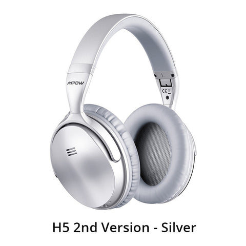 Mpow H5/ H5 2nd Gen Bluetooth Headphones Over-ear ANC HiFi Stereo Wireless Headphone With Mic For iPhone X/8/7 And Android Phone