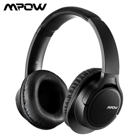 Mpow H7 Bluetooth Headphones Stereo Wireless Over-Ear Headphone With Mic Memory-protein Ear Cushions For Cellphone/Table/PC/TV