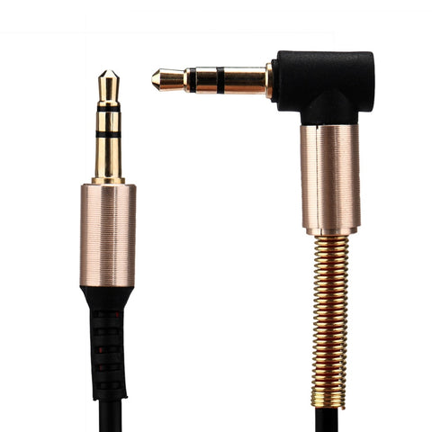 NEW 2019 Stereo Headphone 3.5mm Jack Elbow Male To Male Arrival Computer Cable Car Aux Audio Extension Extend Cable#YL