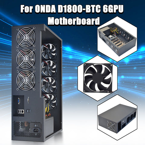 Open Air 6GPU Crypto Coin Mining Server Frame Rig Graphics Case /with 7 Fans Optional Computer Mining Case Frame Server Chassis