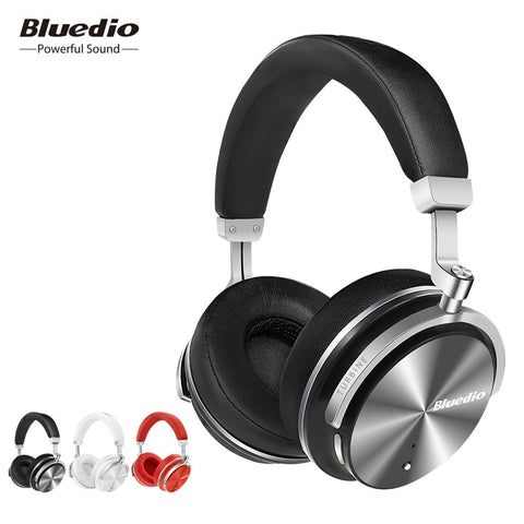 Original Bluedio T4S active noise cancelling wireless Bluetooth headphones on ear portale headphone for xiaomi android phone