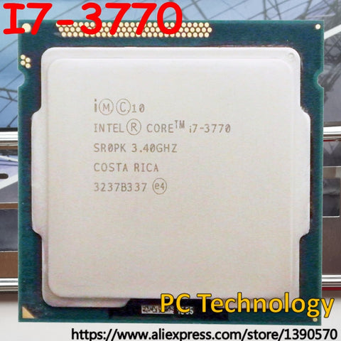 Original Intel processor I7 3770 8M Cache, 3.40GHz Quad-core LGA1155 77W desktop I7-3770 CPU Free shipping ship out within 1 day