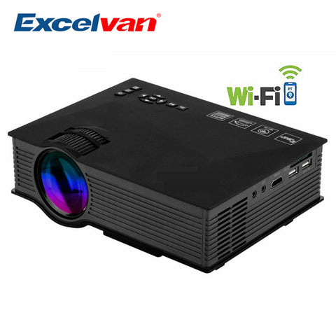 Original UC46 UC46+ Portable Mini Projector Full HD 1080P WIFI Multimedia Home Theater 800x480 1200 Lumen LED LCD Projector HDMI