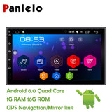 Panlelo 2 Din Android 6.0 Car Stereo 7 Inch Quad Core Head Unit 1080P GPS Navigation Audio Radio Built in Wi-Fi Bluetooth RDS
