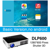 Poner Saund DLP600WIFI Mini projector Portable DLP Full 3D Android Bluetooth 1280*800 WIFI Digital Home theater 1080P HDMI USB