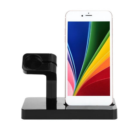 Portable 2 in 1 Charger Charging Docking Station for iPhone x 7 SE Mobile Phone for iWatch Desktop Holder for Apple Series Stand