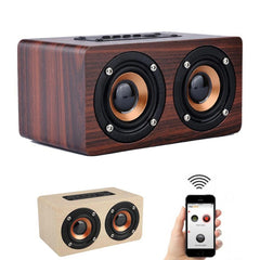 Portable Mini Retro Wireless Bluetooth Speaker Music Center Column Sound box Wood HIFI Subwoofer For Phone Computer PC #Y10