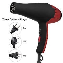 Pro Hair Dryer Hair Blower with Nozzle 2100W Negative lons Hair Dryer for Hair Styling Salon Hairdressing Tools