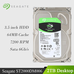 "Seagate 2TB Desktop HDD Internal Hard Disk Drive 7200 RPM SATA 6Gb/s 64MB Cache 3.5"" ST2000DM006/005 HDD Drive Disk For Computer"