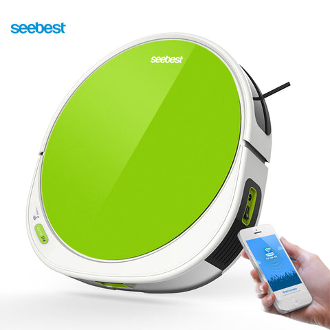 Seebest F780/F780A Robotic Vacuum Cleaner with Large Water Tank, Gyroscope Navigation, Time Schedule, V Rolling Brush for Carpet