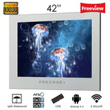 "Souria 42"" 1080HD Full Vanishing Television Magic Mirror LED TV WiFi Android Big Screen Bathroom Waterproof TV"
