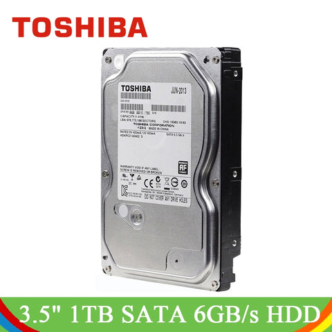"TOSHIBA 3.5"" 1TB HDD Internal Hard Disk Drive Desktop 7200 RPM SATA3.0 6Gb/s 32MB Cache Hard Drive for Desktop Computer PC"