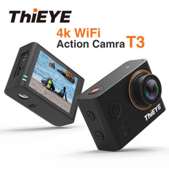 ThiEYE T3 4K WiFi Action Camera With 180 Degree Image Rotation And Car Mode Sport Cam Charging Waterproof Case video Camera
