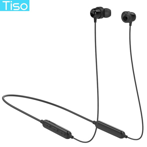 Tiso S8 Bluetooth headphone wireless earphone neckband MP3 music game video headset IP67 waterproof sport microphone earbuds