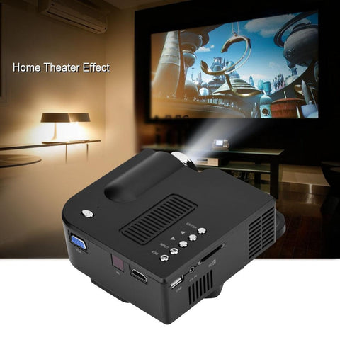 UC28 20-80in Screen Full HD Projector 16:9/4:3 350:1 Contrast Ratio Home Theater Projector