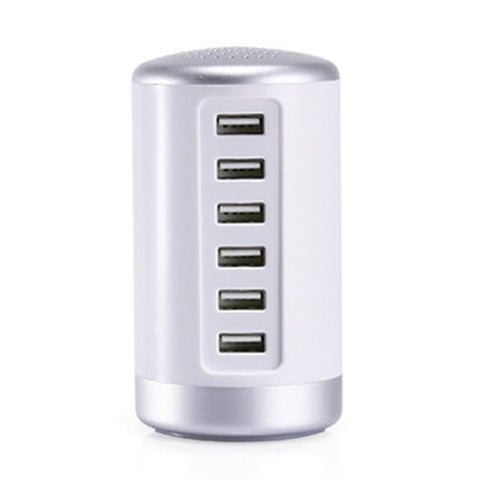 Universal Multi-Port USB Home Travel Wall Charger 6 USB Desktop Charging Station Fast Charging Intelligent USB Hub Drop Shipping
